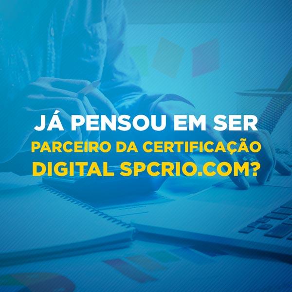 Artes para redes sociais Já pensou em ser parceiro da certificação digital spcrio.com?