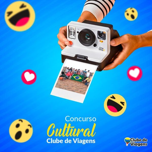 Artes para redes sociais Concurso Cultura Clube de Viagens
