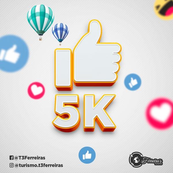 Artes para redes sociais 5 mil curtidas