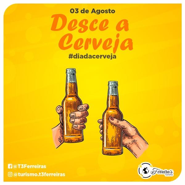 Artes para redes sociais Dia Internacional da Cerveja