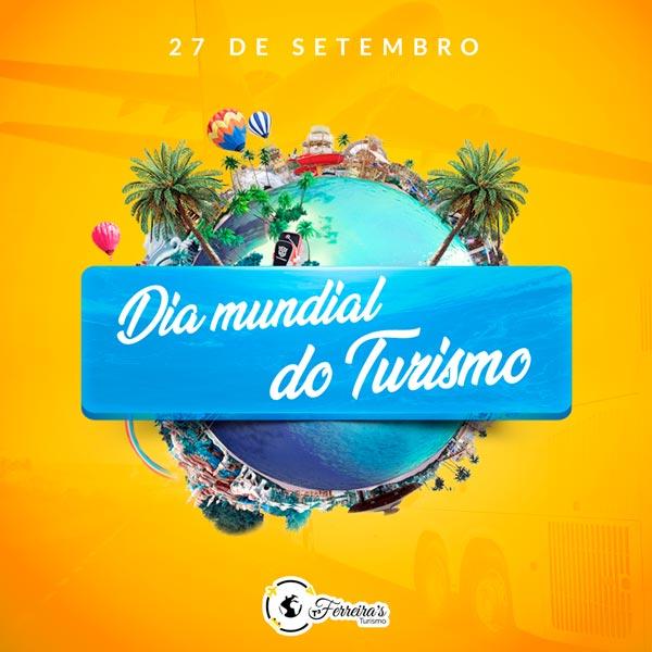 Artes para redes sociais Dia mundial do Turismo