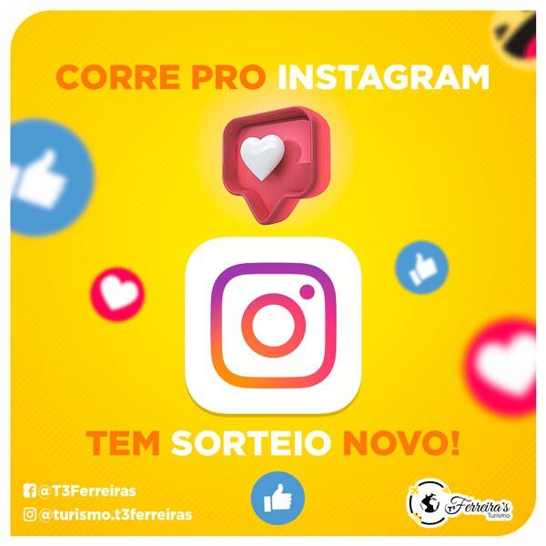 Artes para redes sociais Sorteio Novo no Instagram
