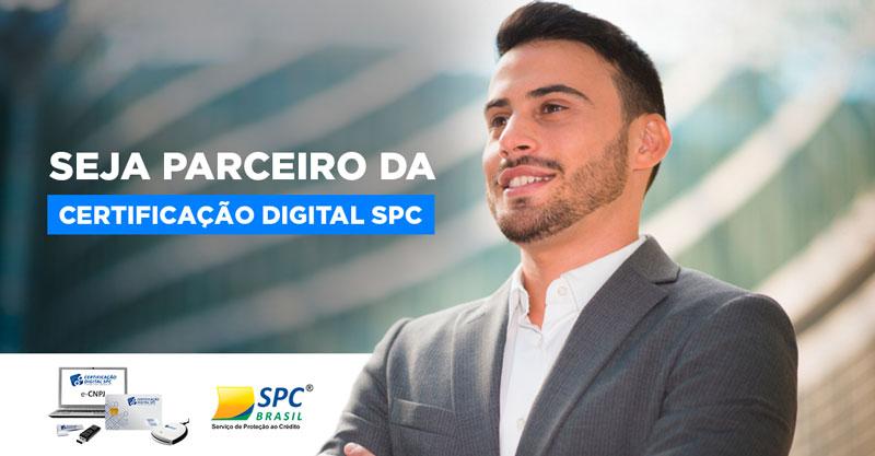 Artes para redes sociais Seja Parceiro da Certificação Digital SPC Brasil